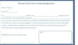 notary signature block template
